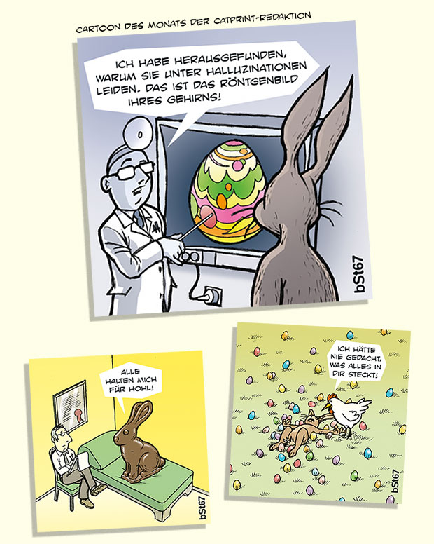 Cartoons für Catprint Media